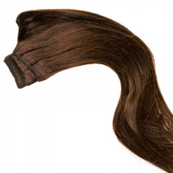 Weft hair extensions chocolate 18 Inch