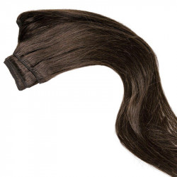 Weft hair extensions dark chestnut 18 Inch