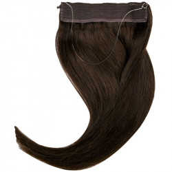 Extension cheveux swift naturelle Remy hair raide noir 50 cm