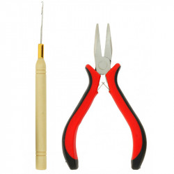 Plier and hook for  cold attachment