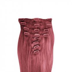 Clip in hair extensions UK n°99J (plum) 100% natural hair clip-in 20 Inch