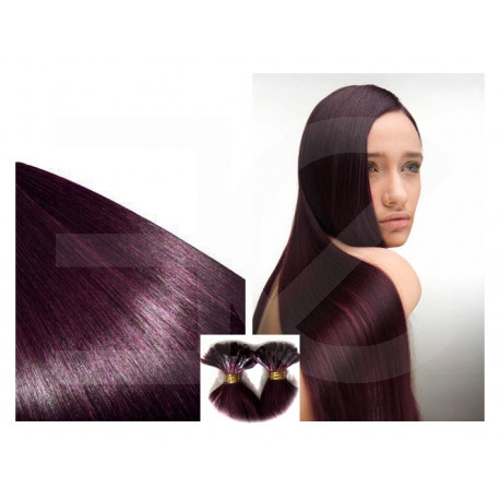 Extensions n 99j (plum) 100% natural hair hot fusion 50 cm