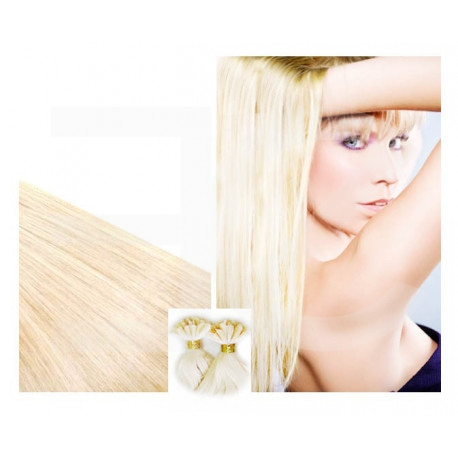 "Pre bonded hair extensions platinum blonde 18"" 0.85G"