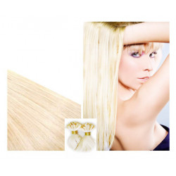 "Pre bonded hair extensions platinum blonde 24"" 0.85G"
