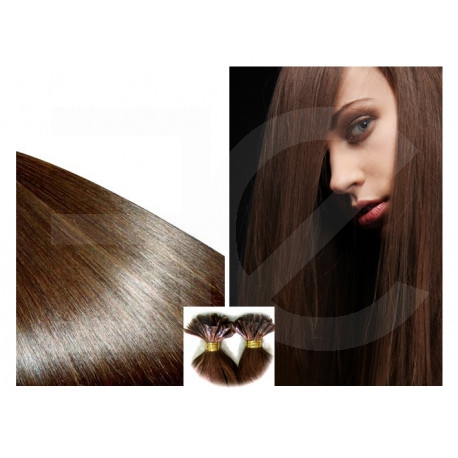 Extensions n 1 (black) 100% natural hair hot fusion 73 cm