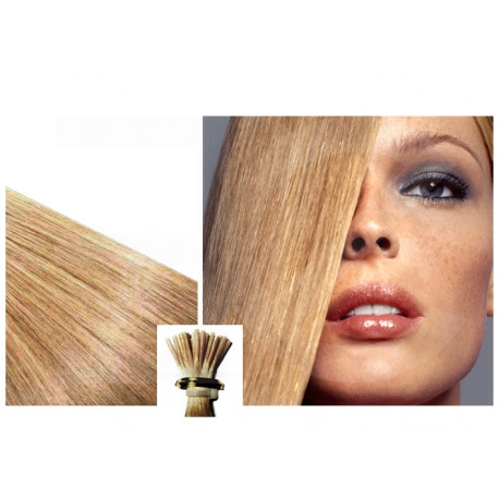 Extensions n 24 (blond cendr ) 100% natural hair cold attachment 50 cm