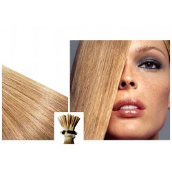 Micro ring hair extensions n°24 (Ash blonde) 100% natural hair STICK TIP 24 Inch
