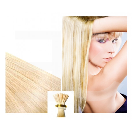 Micro ring hair extensions light blonde straight 1G 24""