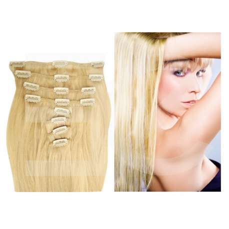 Extensions n 613 (light blonde) 100% natural hair clip-in 55 cm