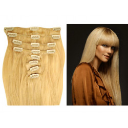 Clip in human hair extensions N°22 (blonde) 28 Inch