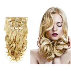 Wave clip In Human Hair Extension n°22 (blonde) 100% natural hair clip-in 20 Inch