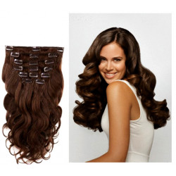 Extensions n 1 (black) 100% natural hair clip-in 55 cm