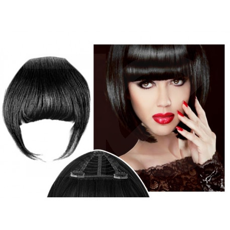 Clip in fringe N1 (black) 100% natural hair extensions