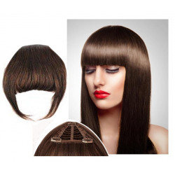 Clip in fringe N4 (chocolate) 100% natural hair extensions