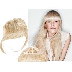 Clip in fringe N613 (light blonde) 100% natural hair extensions