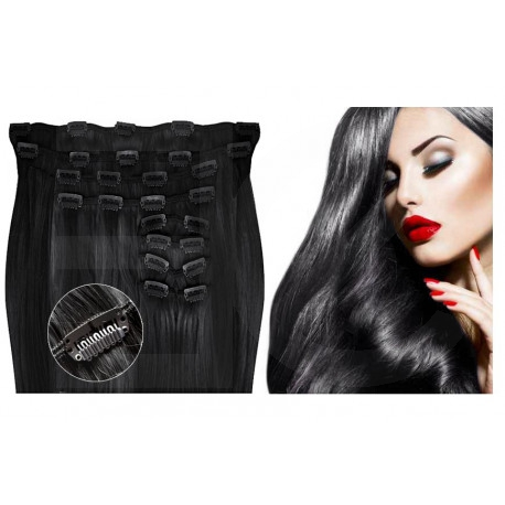 Clip in hair extensions jet black max volume 180G 20""