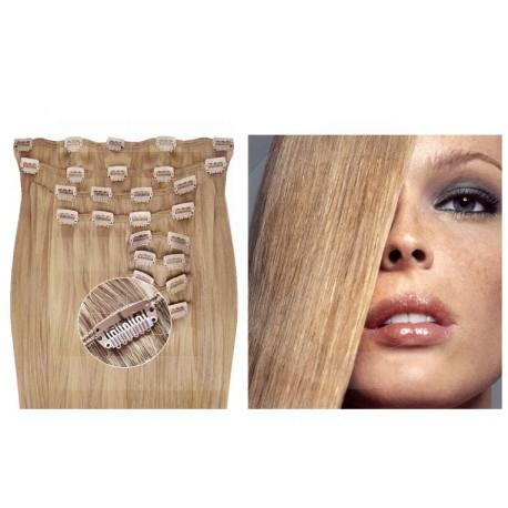 Kit extensions de cheveux à clips naturel Noir 1 luxe 100% volume