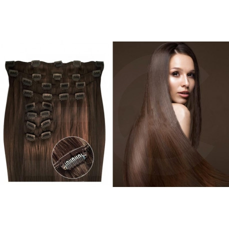 Clip in hair extensions chestnut max volume 180G 24""