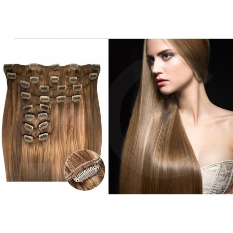 Clip in hair extensions light chesnut max volume 180G 24""