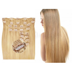 Clip in hair extensions straight n°22 (blonde) max volume 180g 24 inch