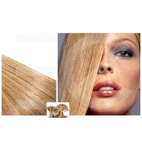 Extensions n 24 (blond cendr ) 100% natural hair hot fusion 63 cm