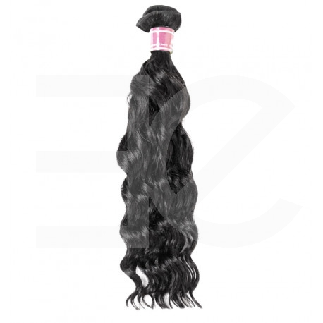 Weft hair extensions black 18 Inch