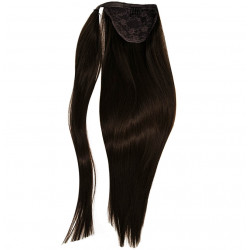 Ponytail hair extensions dark brown 18 inch
