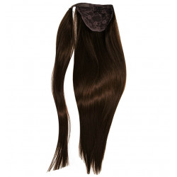 Ponytail hair extensions chocolate 18 inch