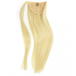 Ponytail hair extensions light blonde 18 inch