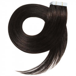 Tape in hair extensions n°1B (brown) 100% natural hair 18 inch