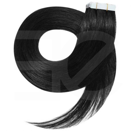 Tape in hair extensions n1 (black) 100% natural hair 18 inch