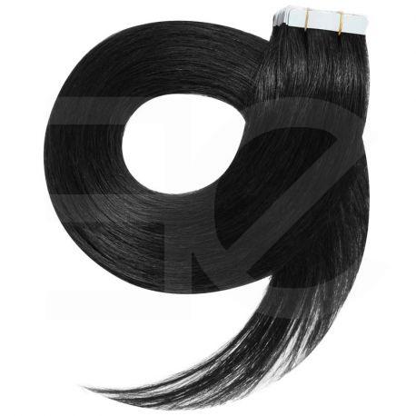 Tape in hair extensions n1 (black) Tape in 100% HUMAN hair 24 inch