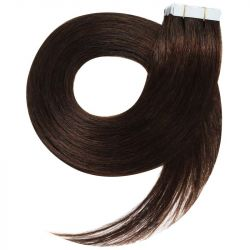 Tape in hair extensions n2 (DARK CHESTNUT) Tape in 100% HUMAN hair 24 inch