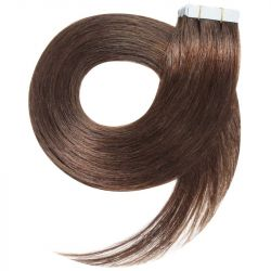 Tape in hair extensions n 8 (chestnut) 100% HUMAN HAIR 18 INCH