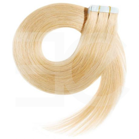 Tape in hair extensions straight n°613 (light blonde) 28 inch