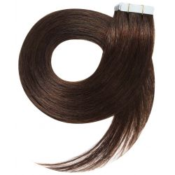 Tape in hair extensions n4 (CHOCOLATE) Tape in 100% HUMAN hair 24 inch