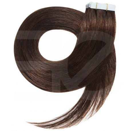 Tape in hair extensions straight n°4 (chocolate) 28 inch