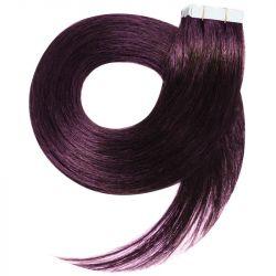 Tape in hair extensions n°1B (brown) 100% natural hair 18 inch