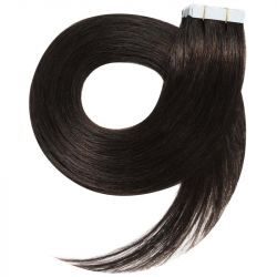 Tape in hair extensions straight n°1B (dark brown) 28 inch