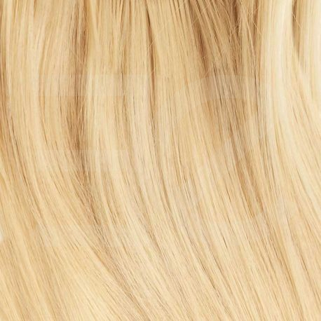 Pre bonded hair extensions 100 % human hair n°613 (light blonde) curly 18 Inch