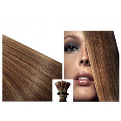 Micro ring hair extensions light chestnut straight 0.85G 18""