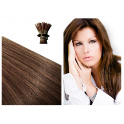 Micro ring hair extensions chestnut straight 1G 18""