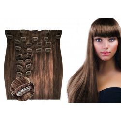 Clip in hair extensions chestnut max volume 180G 20""