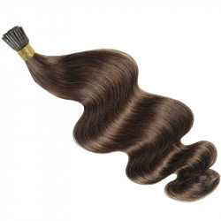 Extensions n 4 (chocolate) 100% natural hair cold attachment 50 cm curly