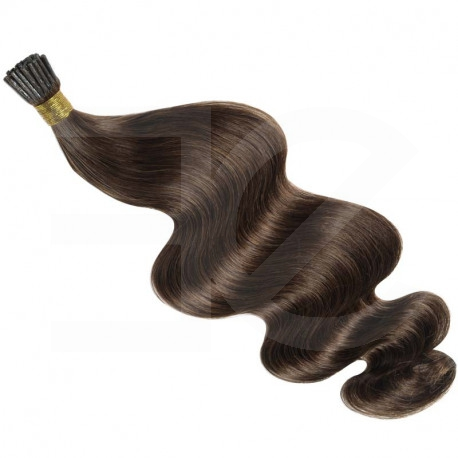 Extensions n 4 (chocolate) 100% natural hair cold attachment 63 cm curly