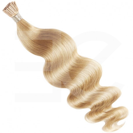 Extensions n 613 (light blonde) 100% natural hair cold attachment 50 cm curly