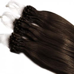 Extensions n 2 (dark chestnut) 100% natural hair loop 48 cm