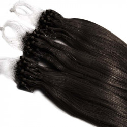 Extensions n 1B (brun) 100% natural hair loop 48 cm