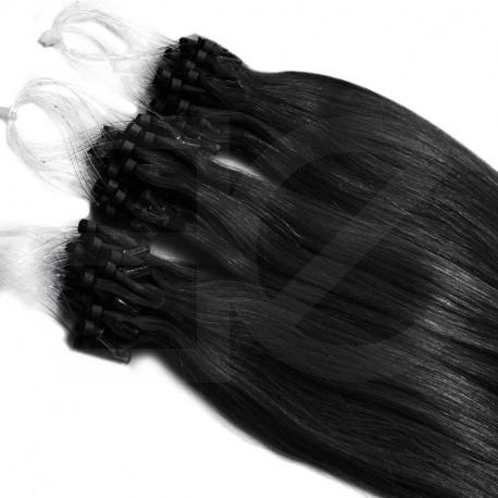 Extensions n 1 (black) 100% natural hair loop 48 cm