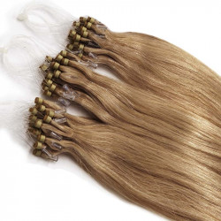 "Micro loop hair extensions golden blonde straight 18"" 085 Gr"